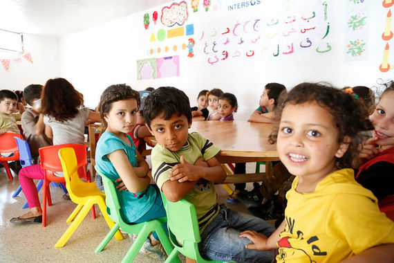 SYRIAN PRIMARY SCHOOL CHILDREN ATTENDING CATCH-UP LEARNING CLASSES IN LEBANON. PICTURE: RUSSELL WATKINS/UK DEPARTMENT FOR INTERNATIONAL DEVELOPMENT IN FLICKR HTTPS://FLIC.KR/P/PH4U7E