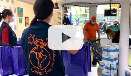 Cestas de alimentos para familias vulnerables Video