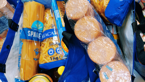 Cestas de alimentos para familias vulnerables