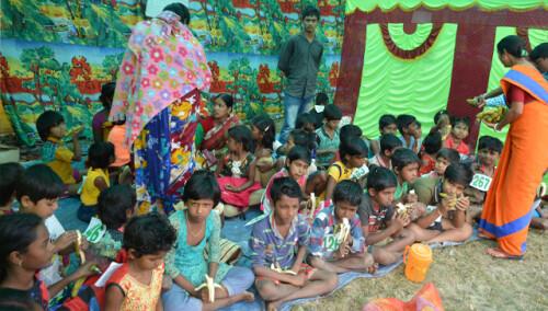 Desayunos escolares en Sunderbans