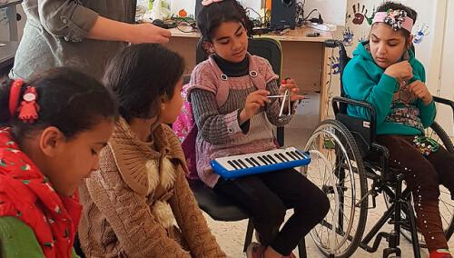 Refuerzo y apoyo para niños sirios con cáncer